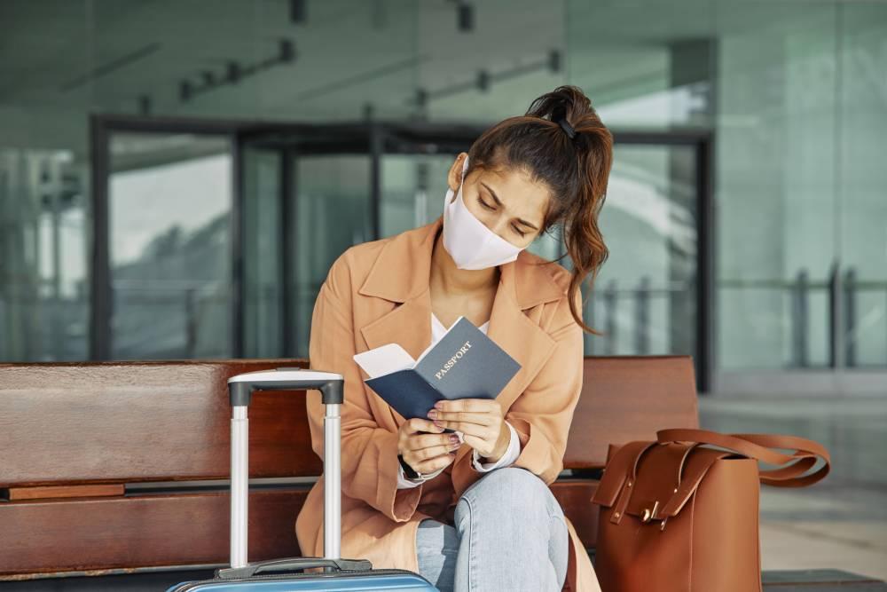 A Woman At Airport